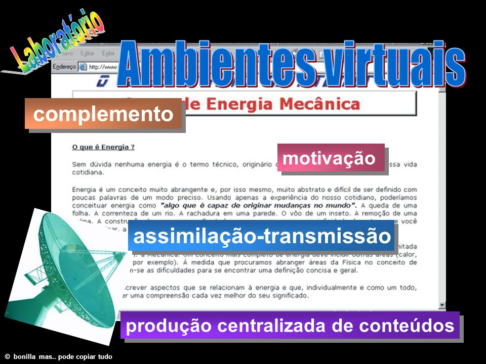 Laboratório Ambientes virtuais complemento assimilação-transmissão
