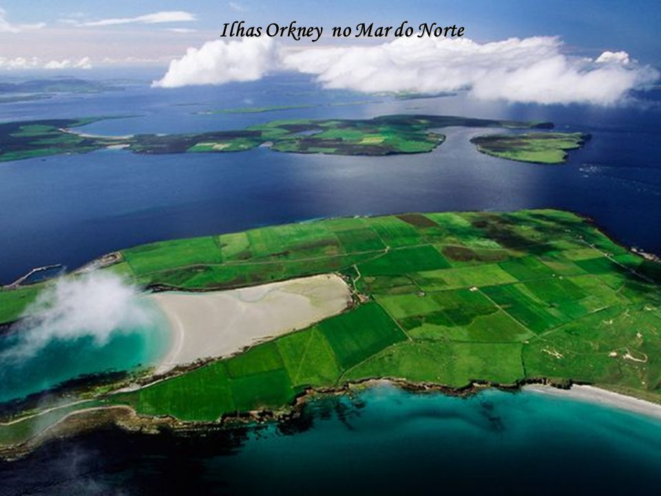 Ilhas Orkney no Mar do Norte