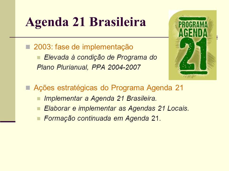 Agenda 21 Brasileira 2003: fase de implementação