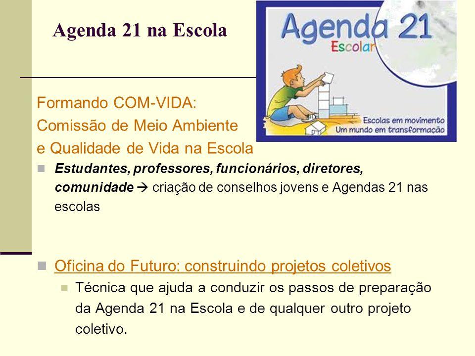 Agenda 21 na Escola Formando COM-VIDA: Comissão de Meio Ambiente