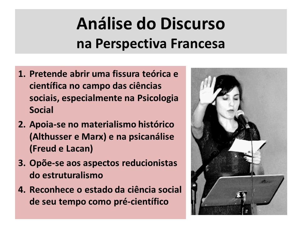 Análise do Discurso na Perspectiva Francesa