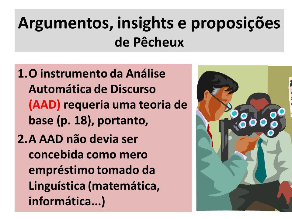 Argumentos, insights e proposições de Pêcheux