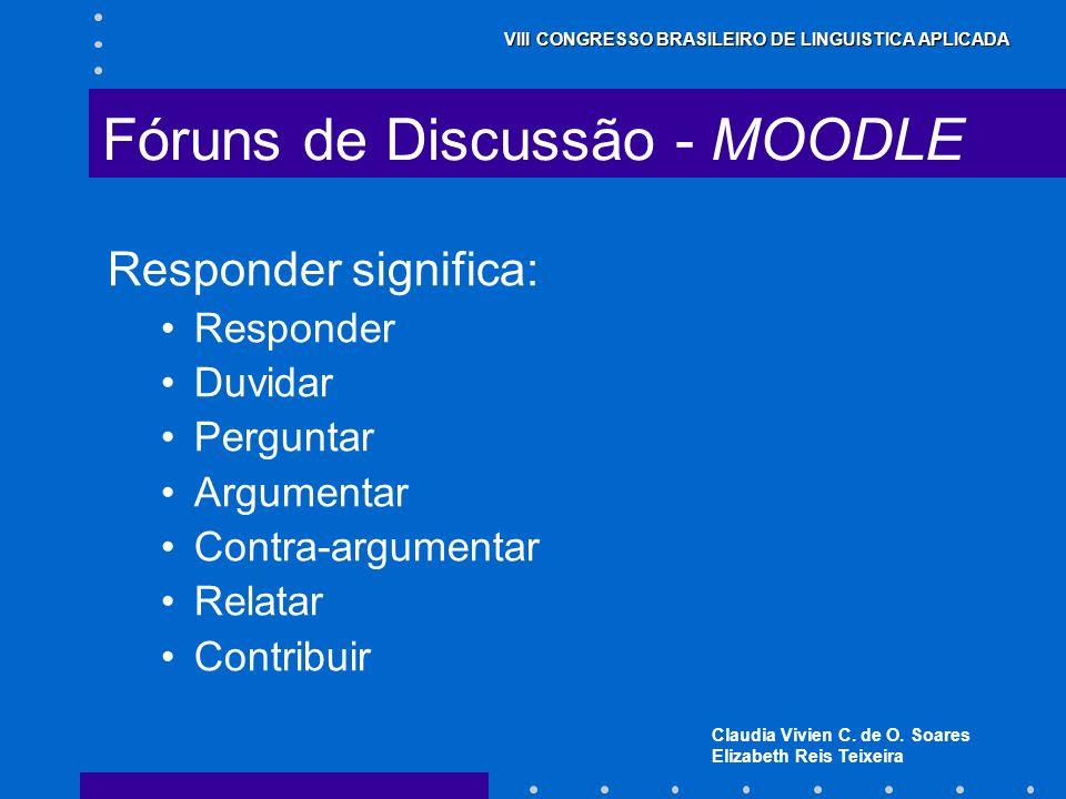 Fóruns de Discussão - MOODLE