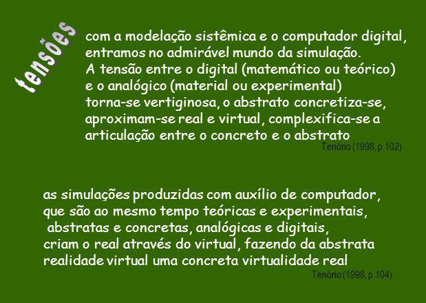 tensões com a modelação sistêmica e o computador digital,