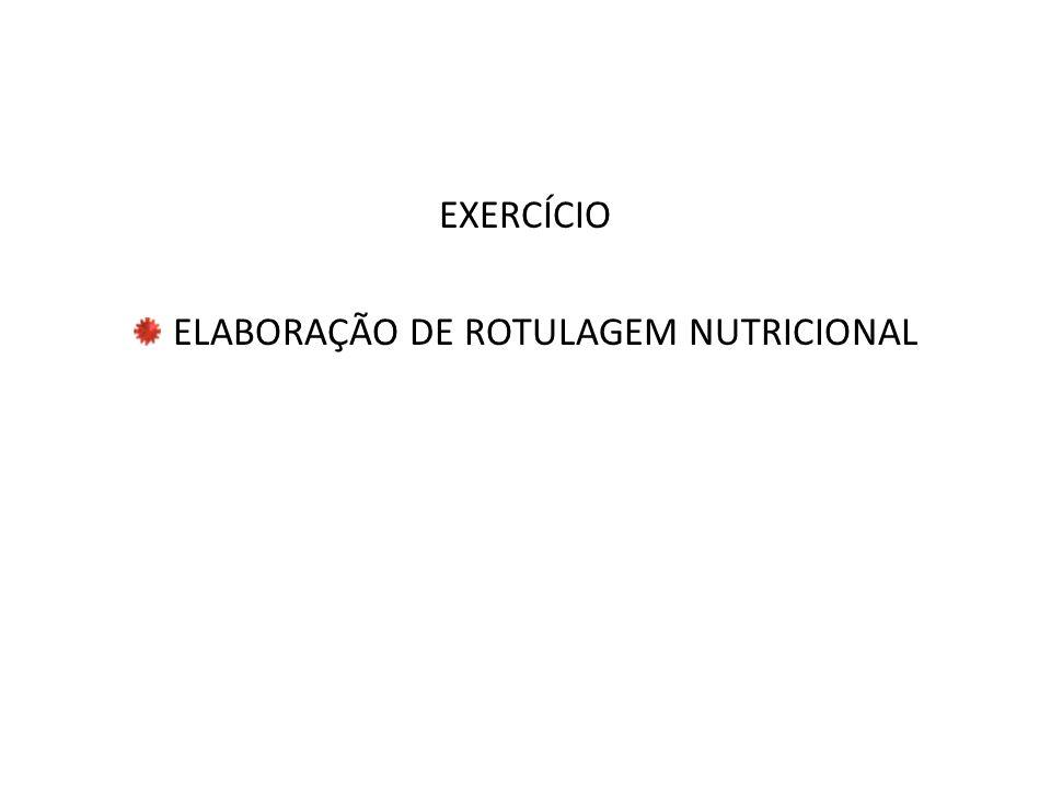 ELABORAÇÃO DE ROTULAGEM NUTRICIONAL