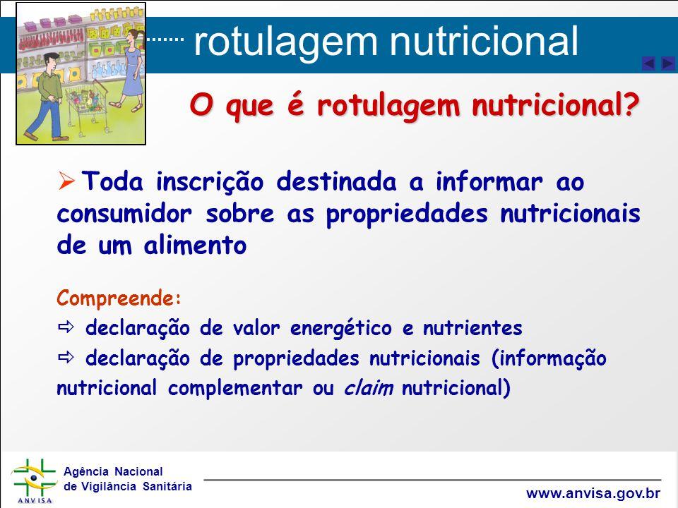 O que é rotulagem nutricional