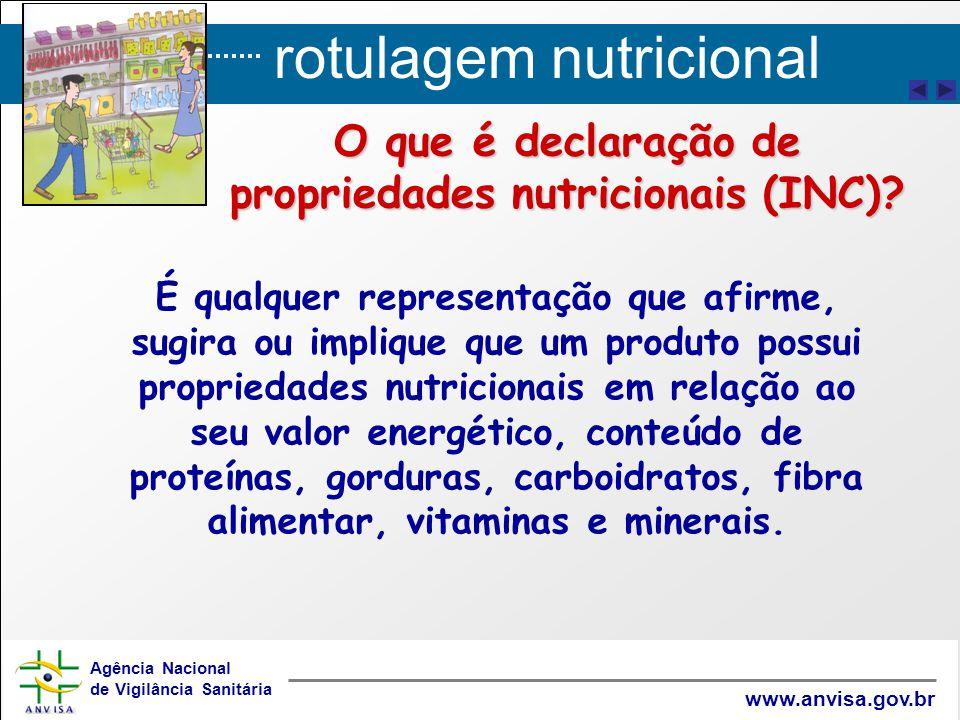 O que é declaração de propriedades nutricionais (INC)