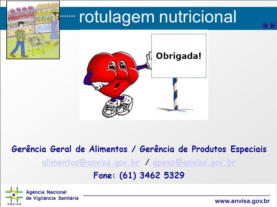 Gerência Geral de Alimentos / Gerência de Produtos Especiais