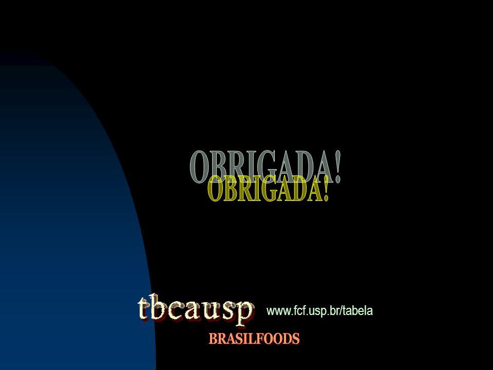 OBRIGADA! www.fcf.usp.br/tabela