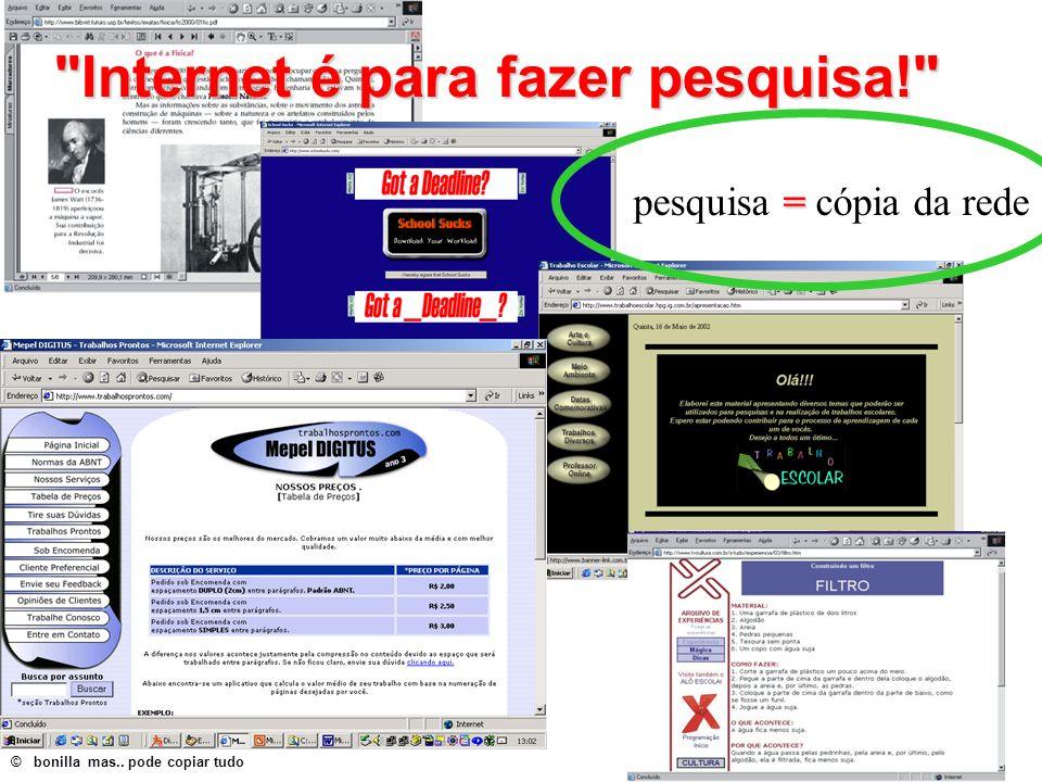 Internet é para fazer pesquisa!