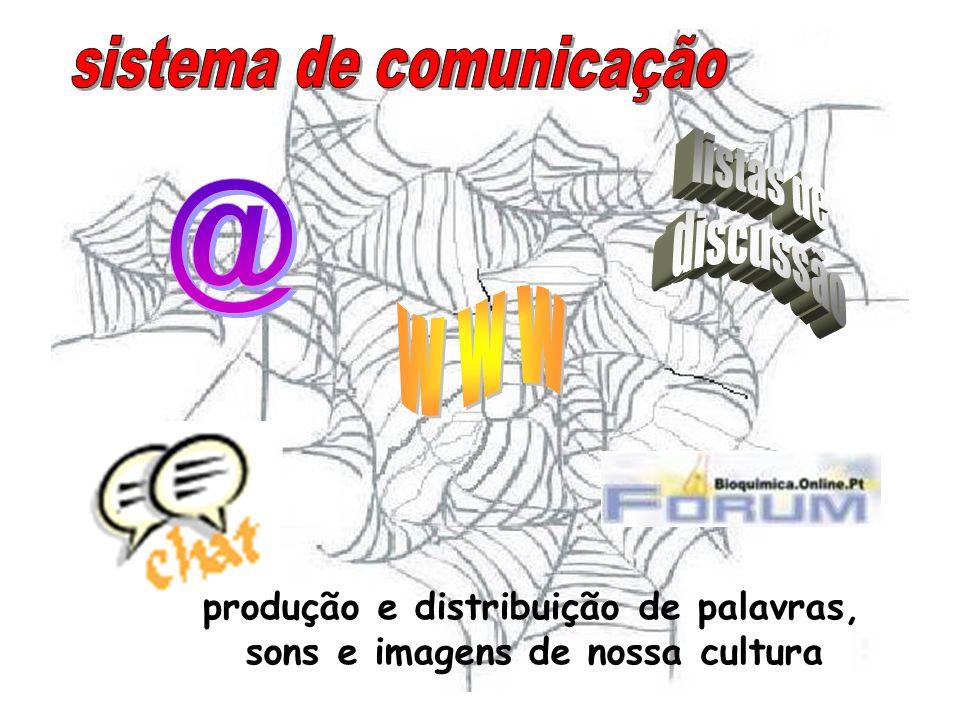 produção e distribuição de palavras,