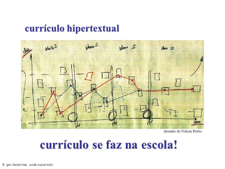 currículo se faz na escola!