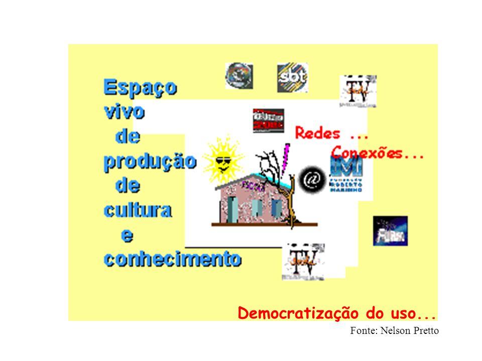 Democratização do uso... Fonte: Nelson Pretto