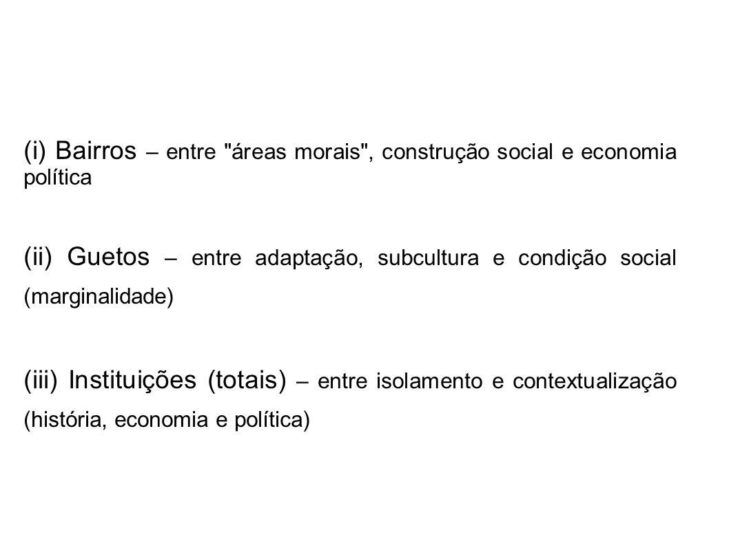 (i) Bairros – entre áreas morais , construção social e economia política