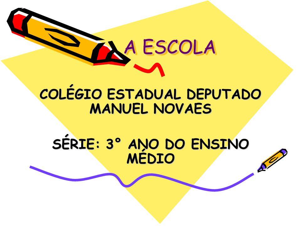 COLÉGIO ESTADUAL DEPUTADO MANUEL NOVAES SÉRIE: 3° ANO DO ENSINO MÉDIO