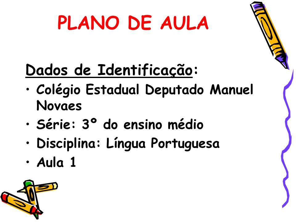 PLANO DE AULA Dados de Identificação: