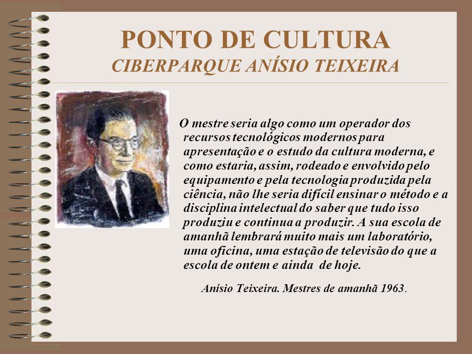 PONTO DE CULTURA CIBERPARQUE ANÍSIO TEIXEIRA