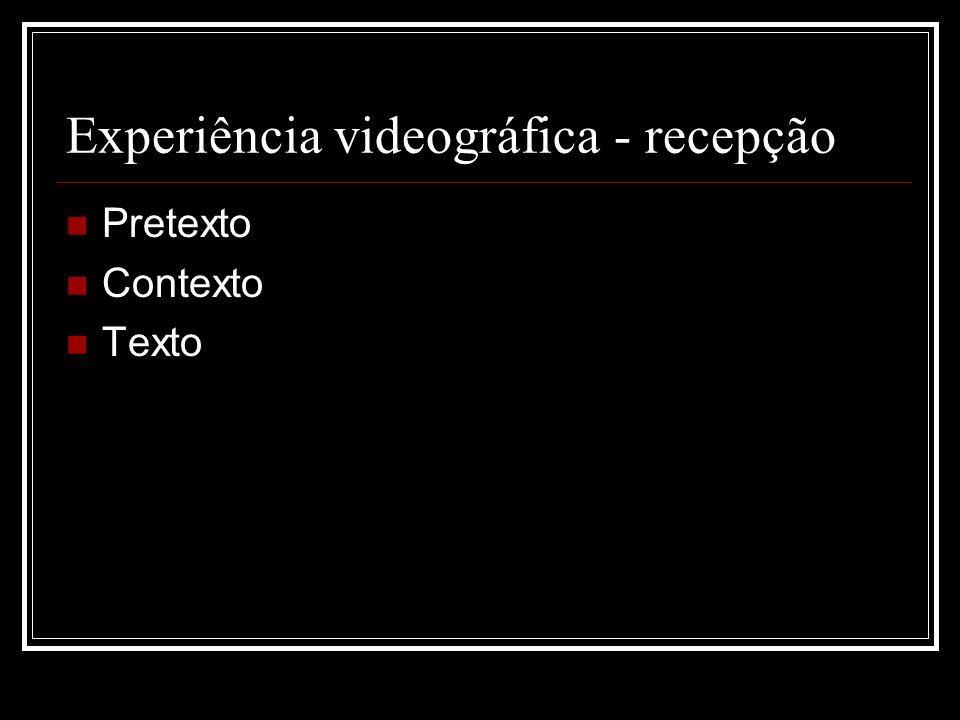 Experiência videográfica - recepção
