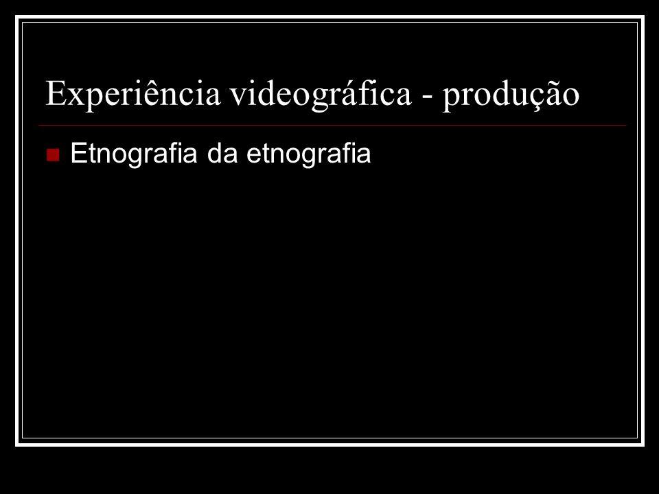 Experiência videográfica - produção