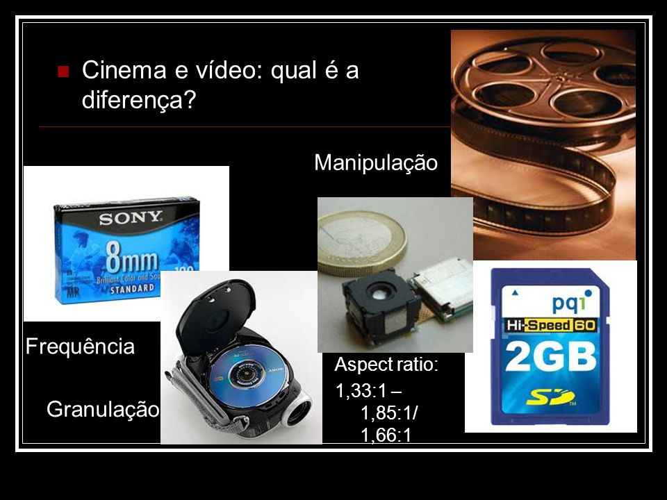 Cinema e vídeo: qual é a diferença