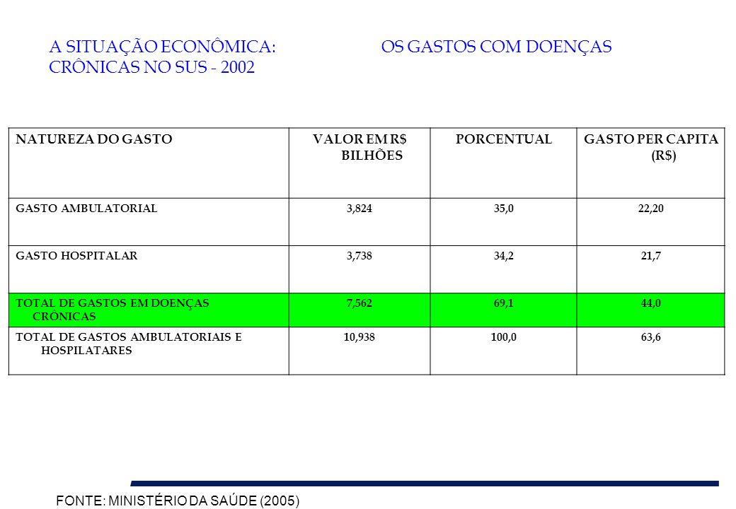 A SITUAÇÃO ECONÔMICA: OS GASTOS COM DOENÇAS CRÔNICAS NO SUS - 2002