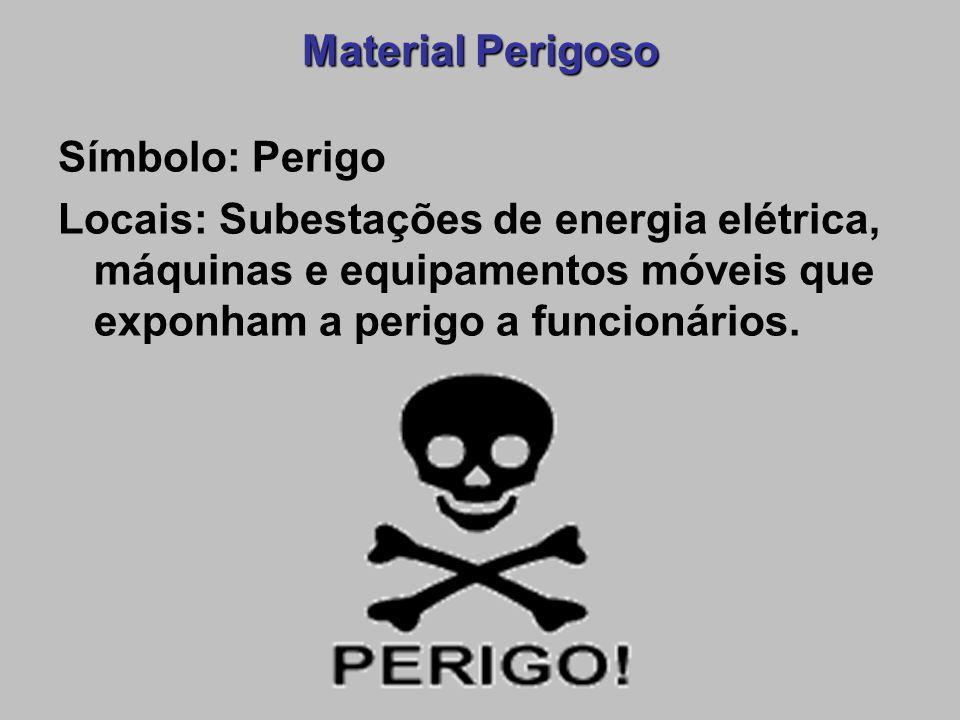 Material Perigoso Símbolo: Perigo.