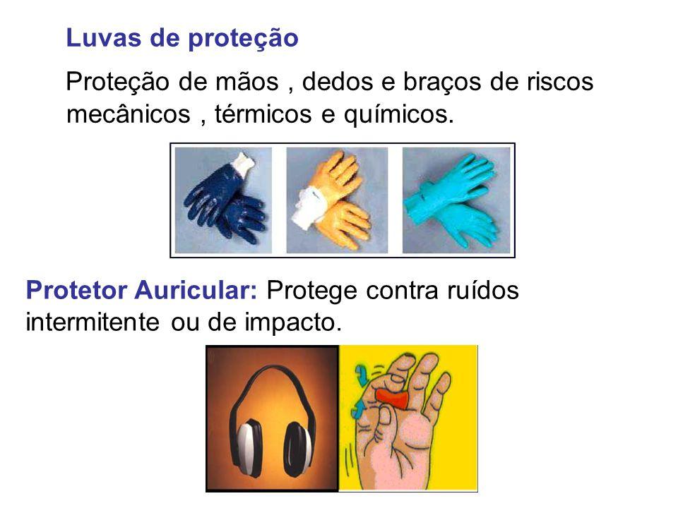 Luvas de proteção Proteção de mãos , dedos e braços de riscos mecânicos , térmicos e químicos.