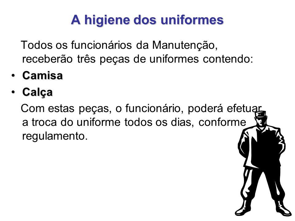 A higiene dos uniformes