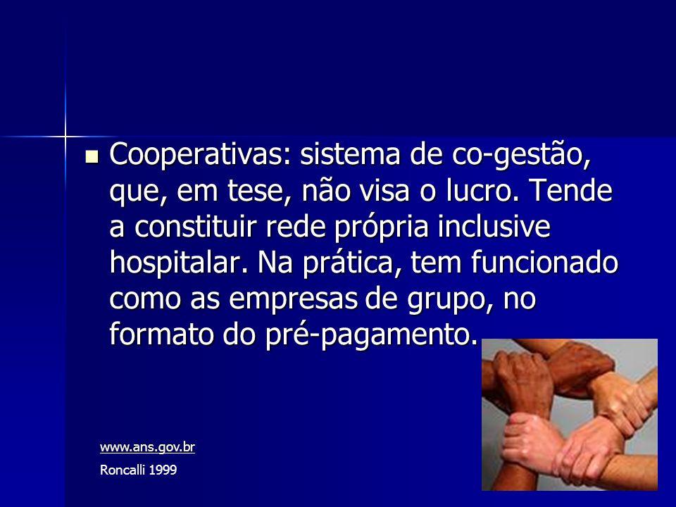 Cooperativas: sistema de co-gestão, que, em tese, não visa o lucro