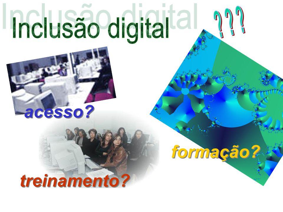 Inclusão digital acesso formação treinamento