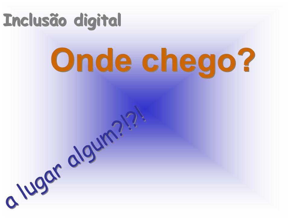 Inclusão digital Onde chego a lugar algum ! !