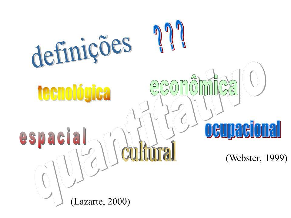 quantitativo definições cultural econômica tecnológica