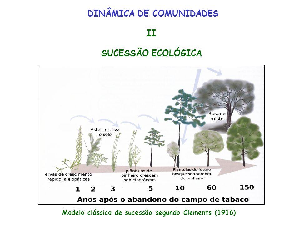 DINÂMICA DE COMUNIDADES