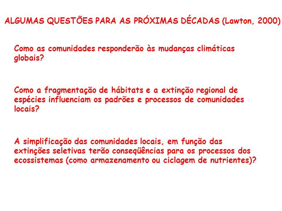 ALGUMAS QUESTÕES PARA AS PRÓXIMAS DÉCADAS (Lawton, 2000)
