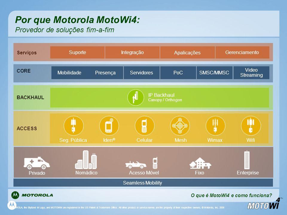 Por que Motorola MotoWi4: Provedor de soluções fim-a-fim
