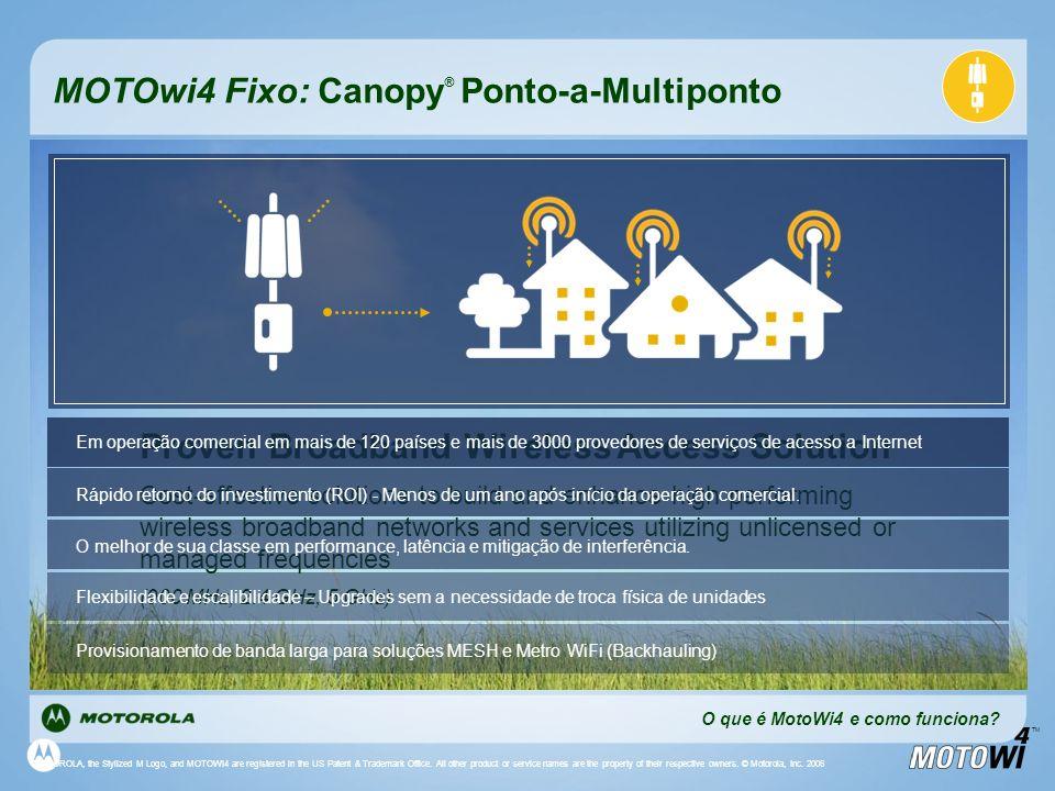MOTOwi4 Fixo: Canopy® Ponto-a-Multiponto