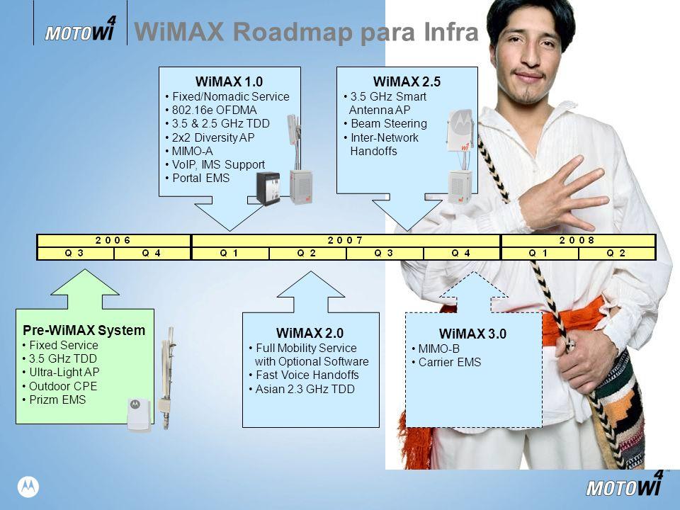 WiMAX Roadmap para Infra