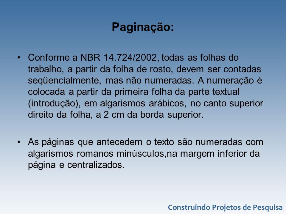Paginação: