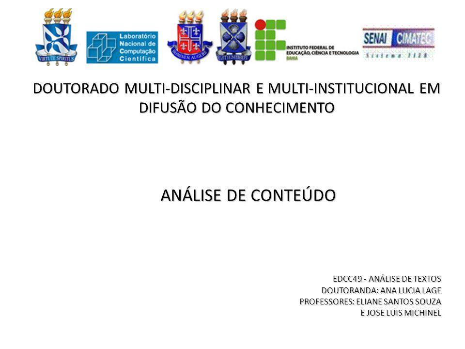 DOUTORADO MULTI-DISCIPLINAR E MULTI-INSTITUCIONAL EM