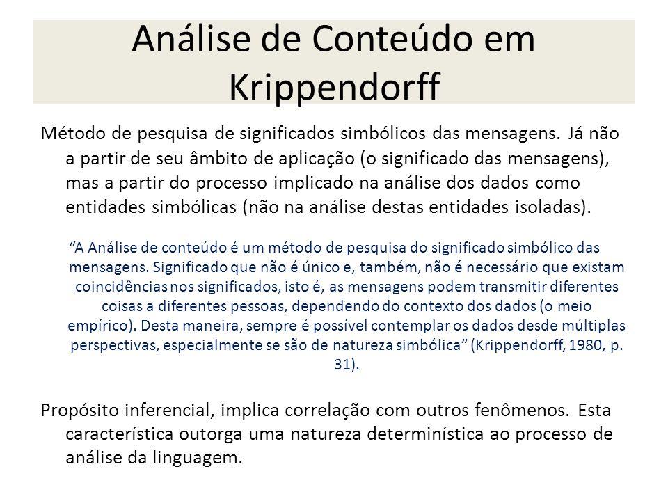 Análise de Conteúdo em Krippendorff