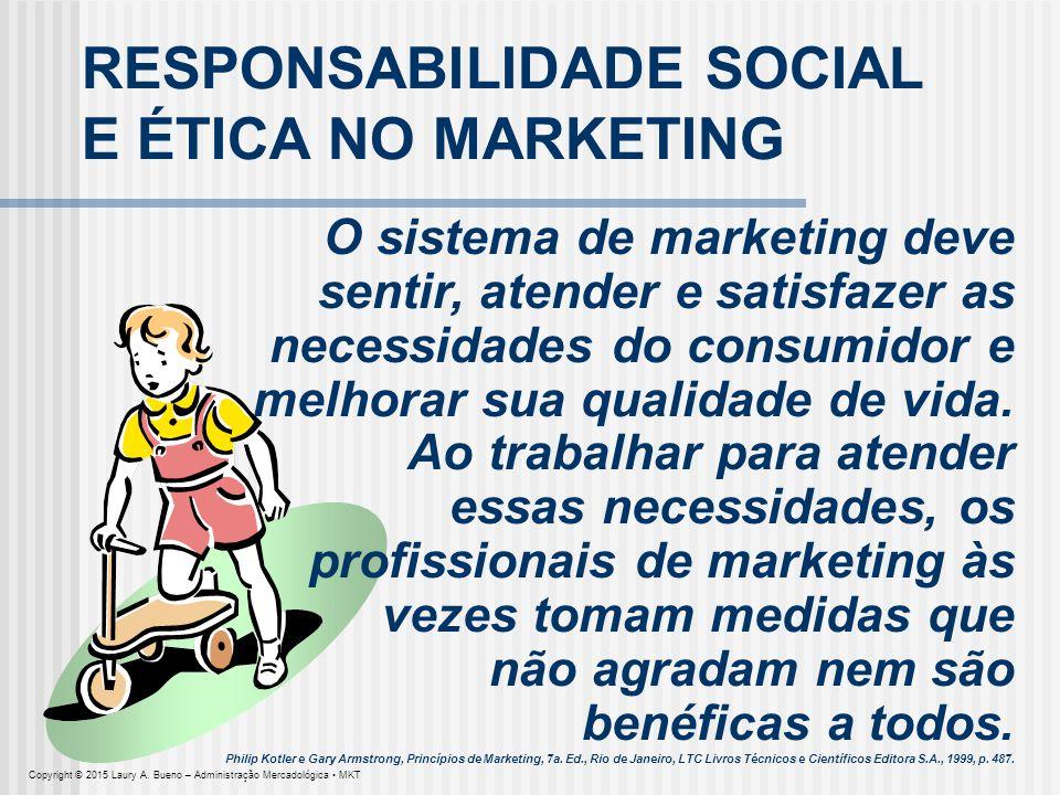 RESPONSABILIDADE SOCIAL E ÉTICA NO MARKETING