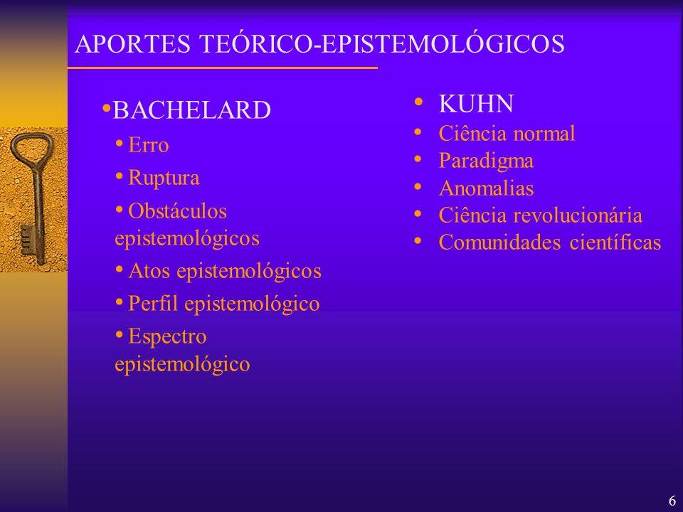 APORTES TEÓRICO-EPISTEMOLÓGICOS