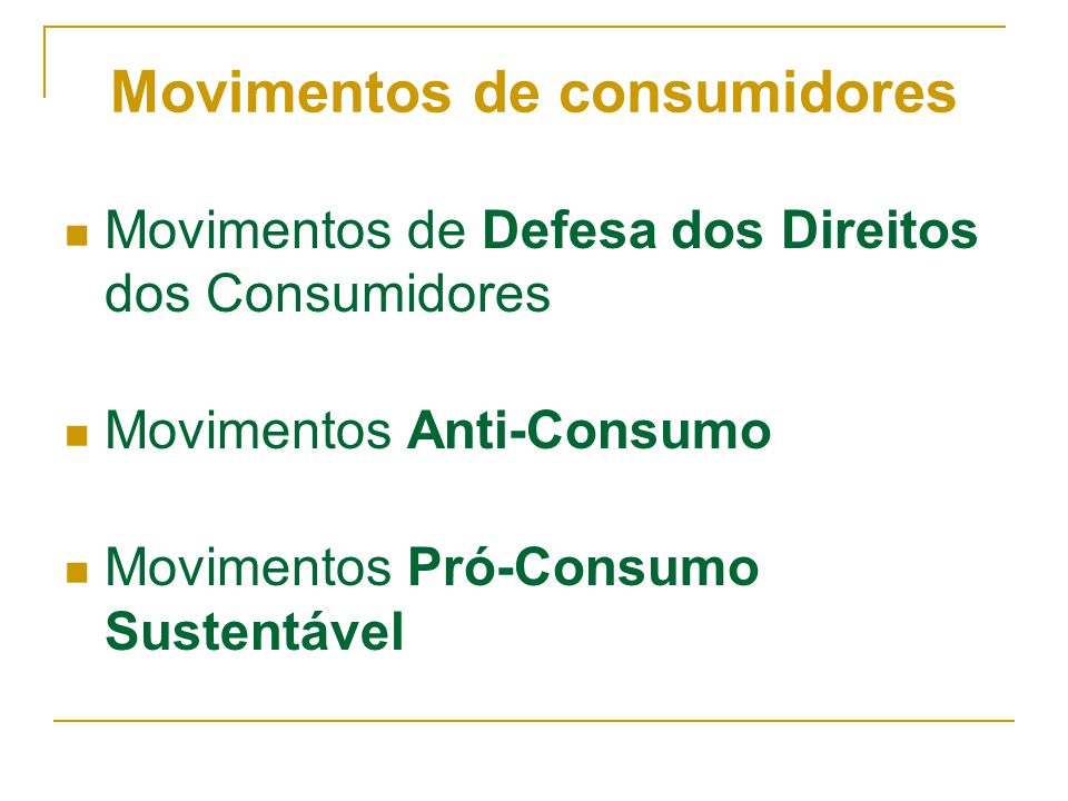Movimentos de consumidores