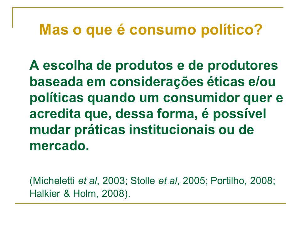 Mas o que é consumo político