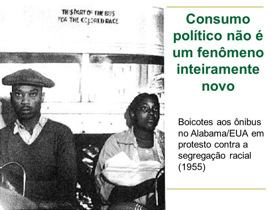 Consumo político não é um fenômeno inteiramente novo