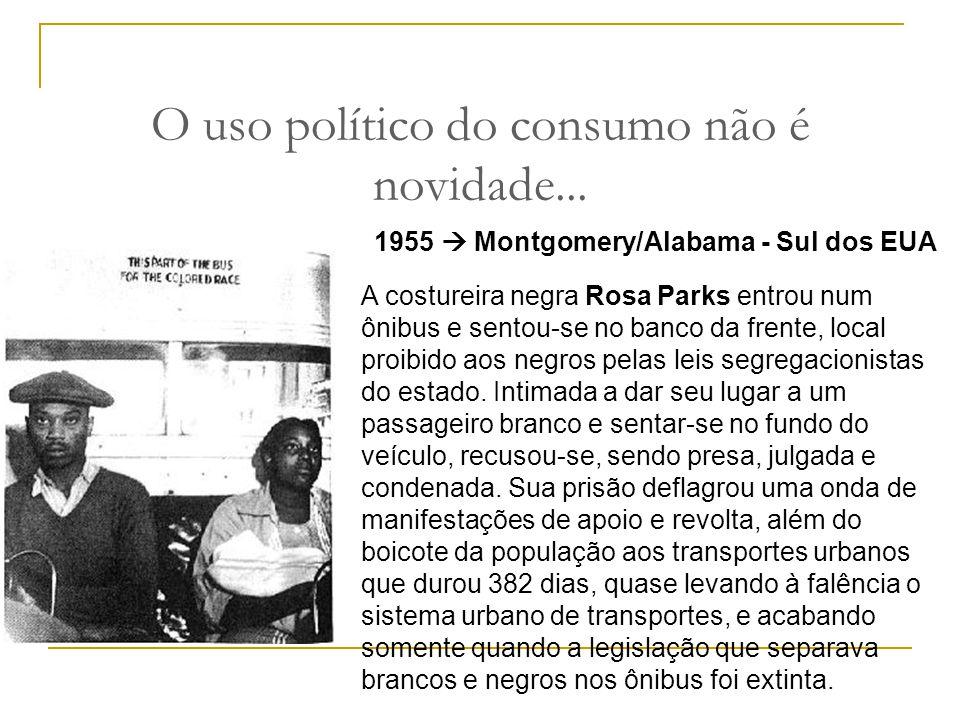 O uso político do consumo não é novidade...