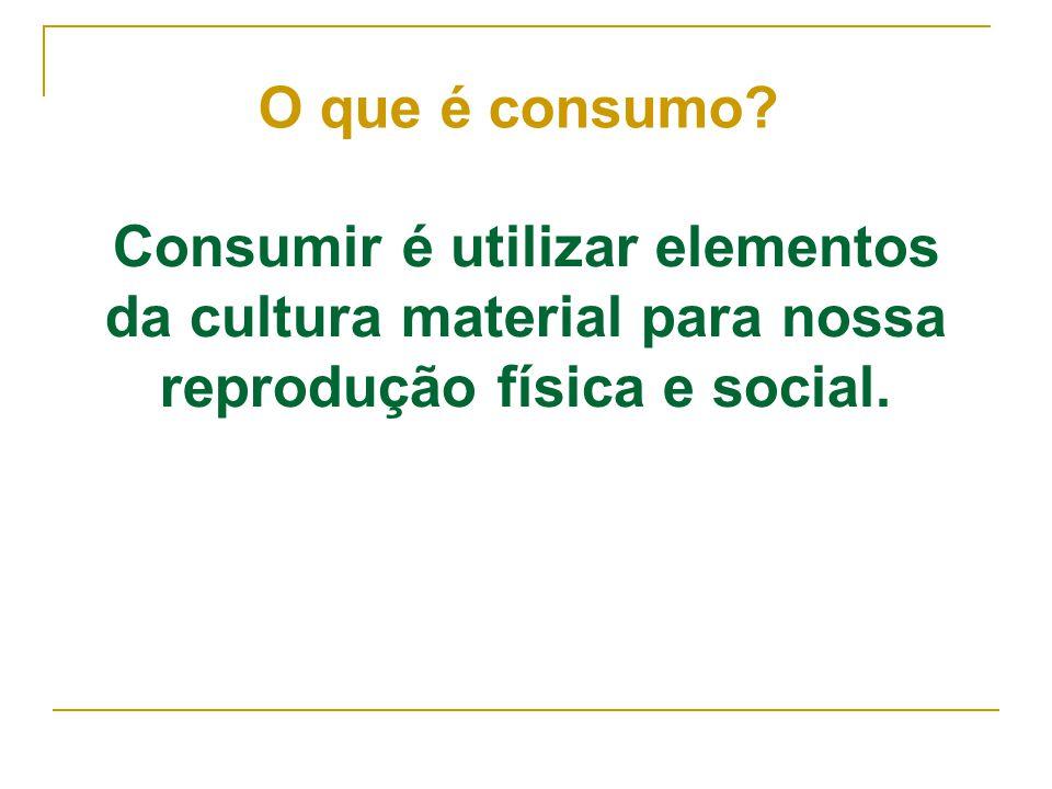 O que é consumo.