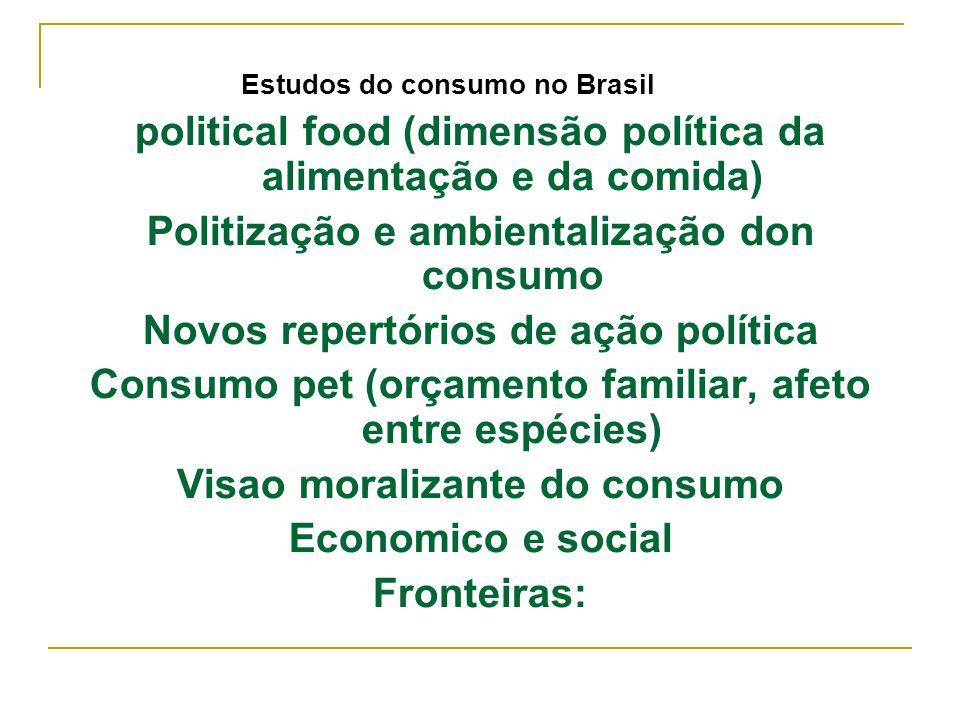 political food (dimensão política da alimentação e da comida)