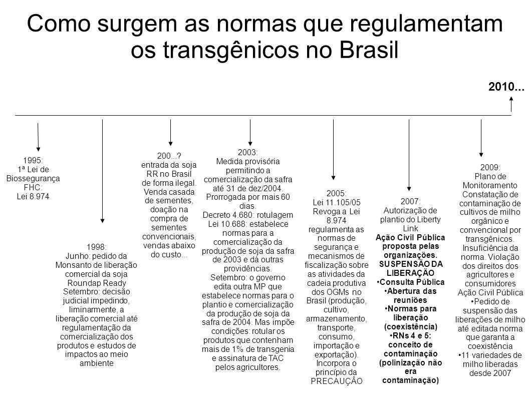 Como surgem as normas que regulamentam os transgênicos no Brasil