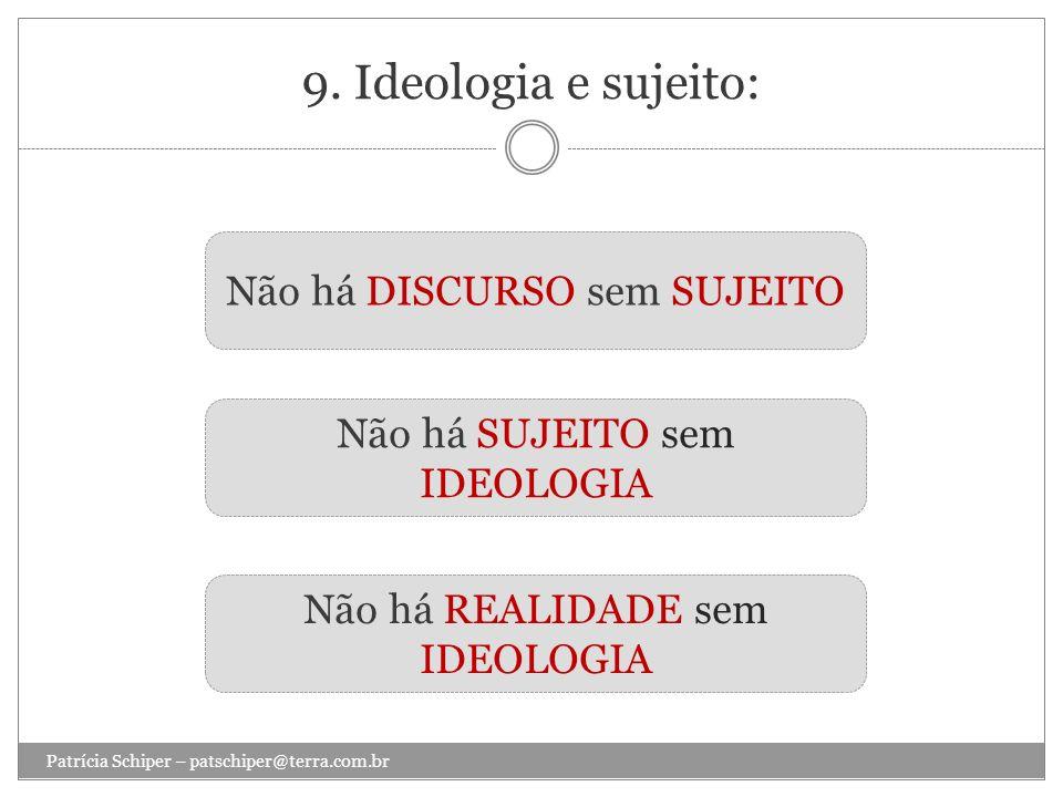 9. Ideologia e sujeito: Não há DISCURSO sem SUJEITO